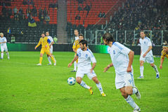 Greek player Georgios KARAGOUNIS in the attack Stock Image