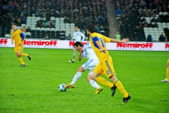 Greek player Georgios KARAGOUNIS in the attack Royalty Free Stock Images