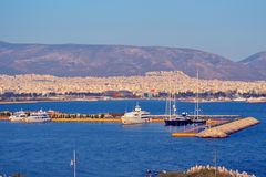 Greek port Royalty Free Stock Images
