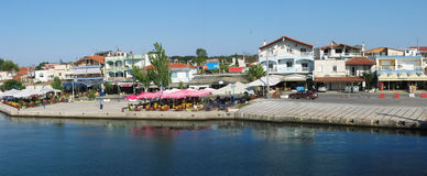 Greek port Kavala Royalty Free Stock Images