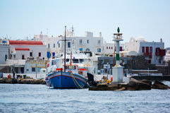 Greek port of Santorini Royalty Free Stock Image
