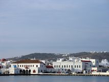 Greek port town Royalty Free Stock Images