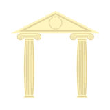 Greek Portico. Greek temple. Two column and roof. Vector illustr Stock Photo