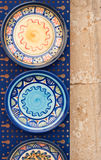 Greek pottery. Cretan pottery displayed outdoors in the port of Chania Crete Royalty Free Stock Photo