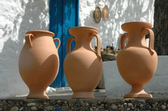 Greek pottery stock photo