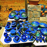 Greek pottery shop, Crete Stock Photography