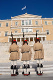 Greek Presidential guard change,Athens. Honor guard shift change at Greek Parliament building in Athens, Greece Stock Photography