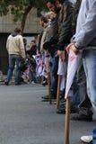 Greek private sector strike Stock Photos
