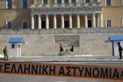 Greek private sector strike Stock Photos