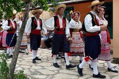 Greek Procession, Acharavi, Corfu, Greece Stock Photo