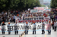 Greek protesters Royalty Free Stock Images
