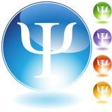 Greek Psi. An image of the Greek Psi symbol vector illustration