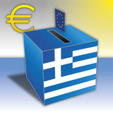 Greek referendum vote Stock Photography