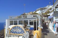 Greek resort summertime street  view Royalty Free Stock Photo