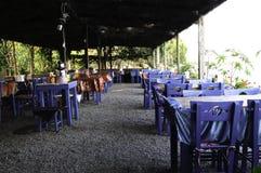 Greek restaurant. In day time Stock Photo