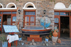 Greek restaurant, Crete, Greece. Royalty Free Stock Images