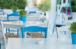 Greek Restaurant - exterior Stock Images
