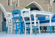 Greek Restaurant - exterior Royalty Free Stock Photography