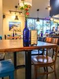 Greek restaurant inside Stock Image