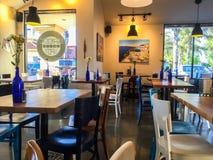 Greek restaurant inside Stock Images