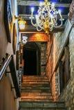 Greek restaurant. Greek taverna entrance restaurant stairs stock images