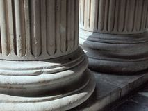 Greek Revival Stone Pillars, St Paul`s Cathedral, London, UK. Detail of fluted neoclassical Greek revival stone pillars, St Paul`s Cathedral, London, United stock images
