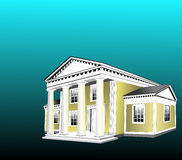 Greek Revival Style. Building was very popular in the Southeast United States and used for homes as well as well public buildings such as court houses.Jpeg has Royalty Free Stock Image