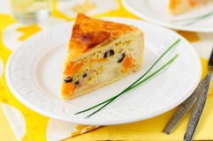 Greek Rice, Pumpkin, Kalamata Olive and Feta Pie Royalty Free Stock Image