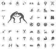 Greek Roma fight icon. Sport illustration  set icons. Set of 48 sport icons. Greek Roma fight icon. Sport illustration  set icons. Set of 48 sport icons Royalty Free Stock Images