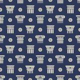 Greek and roman ancient columns seamless pattern vector illustration