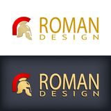 Greek or Roman antique helmet logo Stock Photos