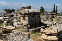 Greek and Roman necropolis Royalty Free Stock Photos