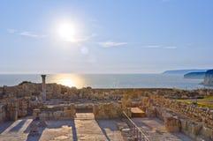Greek-Roman ruins stock photography