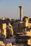 Greek-Roman ruins. Ruins of ancient greek roman city. Unhurt column Royalty Free Stock Images