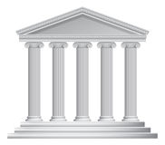 Greek or Roman Temple Columns. An illustration of an ancient Greek or Roman temple with columns or pillars Stock Image