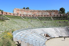 Greek-Roman theater, landmark in Taormina Stock Photo