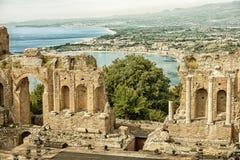 Greek-roman theater, Taormina HDR Stock Image