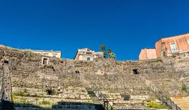 Greek-Roman Theatre of Catania in Sicilia, Italy Stock Image
