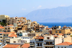 Greek rooftops Stock Photo