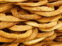 Greek round bread-koulouri Royalty Free Stock Images