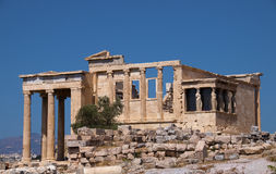 Greek ruin at acropolis Stock Photography