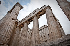 Greek Ruins. In Athens greece temple with pilars Stock Photography