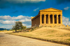Greek ruins of Concordia Temple Royalty Free Stock Photography