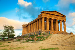 Greek ruins of Concordia Temple, Sicily Stock Images