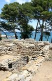Greek ruins of Empúries in Spanish Catalonia Royalty Free Stock Photography