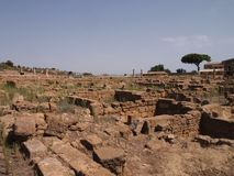 Greek ruins in Magna Grecia stock photo