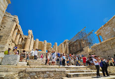 Greek ruins of Parthenon on the Acropolis in Athens, Greece. On May 14 2014 Royalty Free Stock Photography