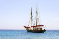 Greek sailboat Stock Photography