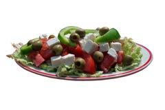 Greek salad. On white background Stock Photography