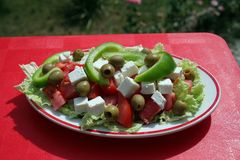 Greek salad. With clipping path Royalty Free Stock Photo